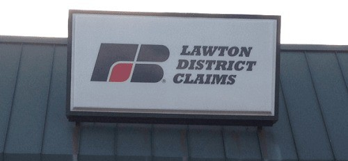 oklahoma farm bureau lawton office sign
