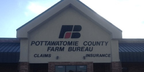 oklahoma farm bureau shawnee office sign