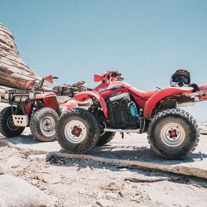 ATV in the desert